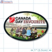 Canada Day Full Color Oval Merchandising Label Copyright A1PKG.com - 90110