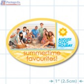 Civic Holiday Full Color Oval Merchandising Label Copyright A1pkg.com SKU - 90115