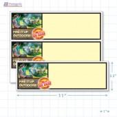 """Victoria Day Merchandising Placards 2UP (11"""" x 3.5"""") - Copyright - A1PKG.com - 90138"""