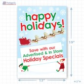 Santa's Happy Holiday Merchandising Poster - Copyright - A1PKG.com SKU -  90202
