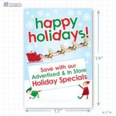 Santa's Happy Holiday Merchandising Poster - Copyright - A1PKG.com SKU -  90202