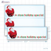 """In Store Holiday Special Merchandising Placards 2UP (11"""" x 3.5"""") - Copyright - A1PKG.com - 90210"""