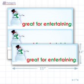 "Great for Entertaining Merchandising Placards 2UP (11"" x 3.5"") - Copyright - A1PKG.com - 90214"