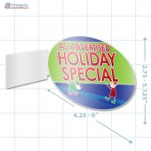 As Advertised Holiday Special Merchandising Oval Aisle Talker - Copyright - A1PKG.com - 90217