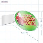 In Store Holiday Special Merchandising Oval Aisle Talker - Copyright - A1PKG.com - 90218