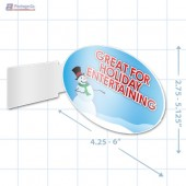 Great For Holiday Entertaining Merchandising Oval Aisle Talker - Copyright - A1PKG.com - 90219