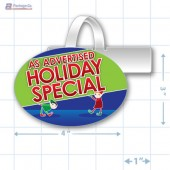 As Advertised Holiday Special Merchandising Oval Shelf Dangler - Copyright - A1PKG.com - 90220