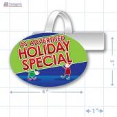 As Advertised Holiday Special Merchandising Oval Shelf Dangler - Copyright - A1PKG.com - 90220