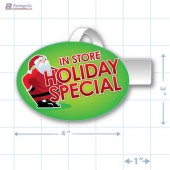 In Store Holiday Special Merchandising Oval Shelf Dangler - Copyright - A1PKG.com - 90221