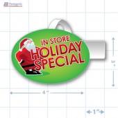 In Store Holiday Special Merchandising Oval Shelf Dangler - Copyright - A1PKG.com - 90221