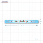 Happy Holidays Merchandising Shelf Channel Strips Copyright A1PKG.com - 90223