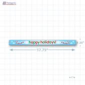 Happy Holidays Merchandising Shelf Channel Strips Copyright A1PKG.com - 90223