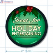 Great For Holiday Entertaining Circle Merchandising Labels - Copyright - A1PKG.com SKU # 90226