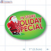 In Store Holiday Special Full Color Oval Merchandising Labels - Copyright - A1PKG.com SKU # 90227