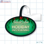 Great for Holiday Entertaining Merchandising Oval Shelf Dangler Copyright A1pkg.com SKU - 90330
