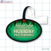 Great for Holiday Entertaining Merchandising Oval Shelf Dangler Copyright A1pkg.com SKU - 90330