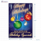 Happy Holiday Merchandising Poster Copyright A1PKG.com - 90302