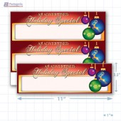 "As Advertised Holiday Special Merchandising Placards 2UP (11"" x 3.5"") - Copyright - A1PKG.com - 90305"