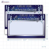 "Great for Entertaining Merchandising Placards 1UP (11"" x 7"") - Copyright - A1PKG.com - 90312"