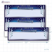 "Great For Entertaining Merchandising Placards 2UP (11"" x 3.5"") - Copyright - A1PKG.com - 90313"