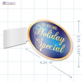 In Store Holiday Special Merchandising Oval Aisle Talker - Copyright - A1PKG.com - 90316
