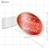 As Advertised Holiday Special Merchandising Oval Aisle Talker - Copyright - A1PKG.com - 90317