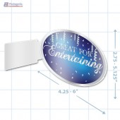 Great For Entertaining Merchandising Oval Aisle Talker A1pkg.com SKU 90318