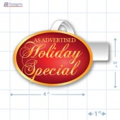 As Advertised Holiday Special Merchandising Oval Shelf Dangler - Copyright - A1PKG.com - 90320