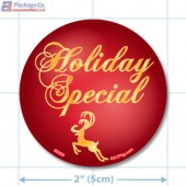 Holiday Special Circle Merchandising Labels - Copyright - A1PKG.com SKU # 90326