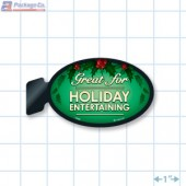 Great for Holiday Entertaining Merchandising Oval Shelf Dangler Copyright A1pkg.com SKU - 90331