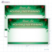 "Great for Holiday Entertaining Merchandising Placards 1UP (11"" x 7"") - Copyright - A1PKG.com - 90333"