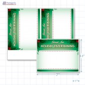 "Great For Holiday Entertaining Merchandising Placards 2UP (5.5"" x 7"") - Copyright - A1PKG.com - 90335"
