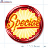 Special Burst Circle Merchandising Labels - Copyright - A1PKG.com SKU # 10114