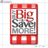Buy BIg Save More Rectangle Merchandising Labels - Copyright - A1PKG.com SKU # 99916