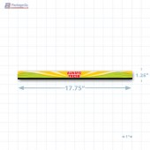 "Always Fresh Merchandising Shelf Channel Strips (17.75"" x 1.25"") - Copyright - A1PKG.com - 16829"