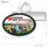 Canada Day Merchandising Oval Shelf Dangler Copyright A1PKG.com - 90109