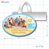 Civic Holiday Merchandising Oval Shelf Dangler Copyright A1pkg.com SKU - 90114