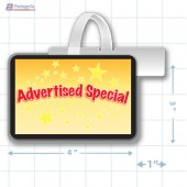 Advertised Special Merchandising Rectangle Shelf Dangler - Copyright - A1PKG.com - 16841