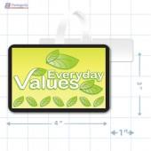 Everyday Vaues Merchandising Oval Shelf Dangler - Copyright - A1PKG.com - 16843