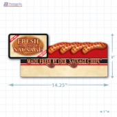 Fresh Store Made Sausage Merchandising Small Case Divider - Copyright - A1PKG.com - 28163