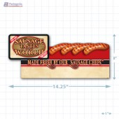 Sausage Tastes of the World Merchandising Small Case Divider - Copyright - A1PKG.com - 28123