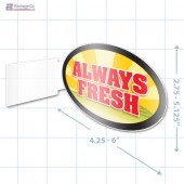 Always Fresh Merchandising Oval Aisle Talker - Copyright - A1PKG.com - 16846