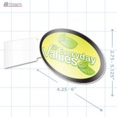 Everyday Values Merchandising Oval Aisle Talker - Copyright - A1PKG.com - 16847