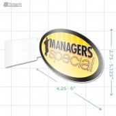 Managers Special Merchandising Oval Aisle Talker - Copyright - A1PKG.com - 16848