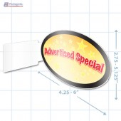 Advertised Special Merchandising Oval Aisle Talker - Copyright - A1PKG.com - 16850