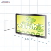 Everyday Values Merchandising Rectangle Aisle Talker - Copyright - A1PKG.com - 16852