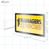 Manager's Special Merchandising Rectangle Aisle Talker - Copyright - A1PKG.com - 16853
