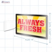 Always Fresh Merchandising Rectangle Aisle Talker - Copyright - A1PKG.com - 16855