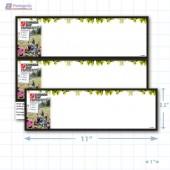 """Canada Day Merchandising Placards 2UP (11"""" x 3.5"""") - Copyright - A1PKG.com - 90130"""
