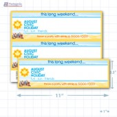 "Civic Holiday Merchandising Placards 2UP (11"" x 3.5"") - Copyright - A1PKG.com - 90133"
